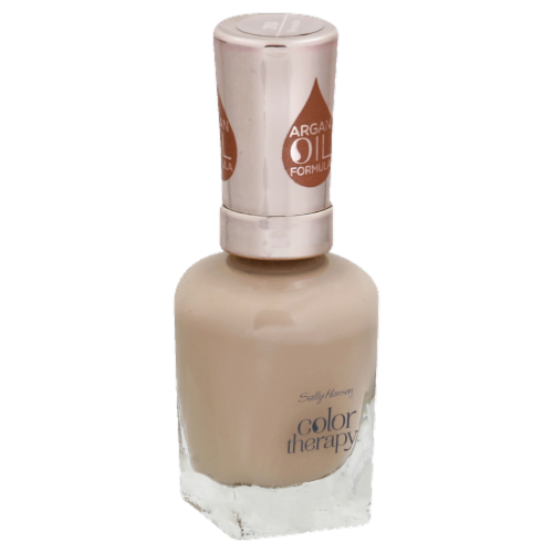 Sally Hansen Color Therapy Argan Oil Formula Re-nude Nail Polish Perspective: front