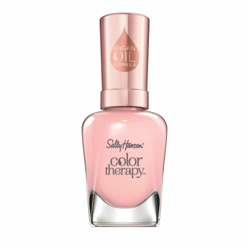 Sally Hansen Color Therapy Rosy Quartz Nail Polish Perspective: front