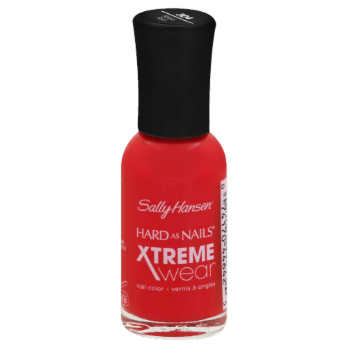 Sally Hansen Hard as Nails Xtreme Wear Rebel Red Nail Color Perspective: front