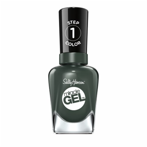 Sally Hansen Miracle Gel Jeleaf Me Be Nail Color Perspective: front