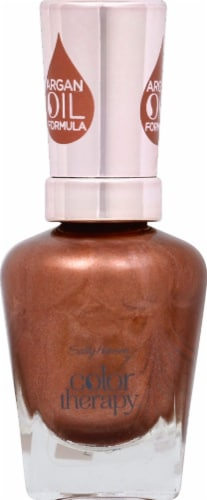 Sally Hansen Color Therapy Burnished Bronze Nail Color Perspective: front