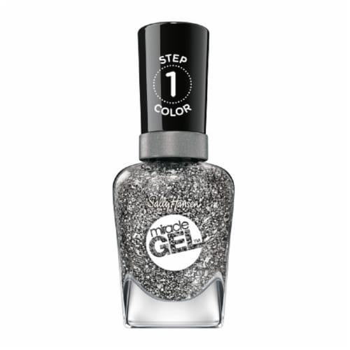 Sally Hansen Miracle Gel Deep Sea Diamond Nail Polish Perspective: front