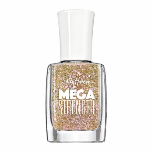 Sally Hansen Mega Strength 017 Mermaid Parade Nail Polish Perspective: front
