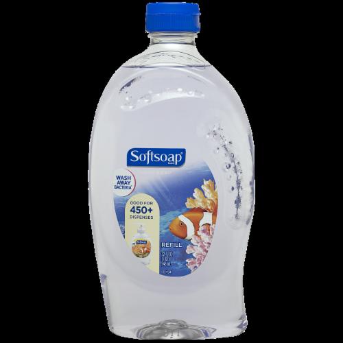 Softsoap Aquarium Liquid Hand Soap Refill Perspective: front