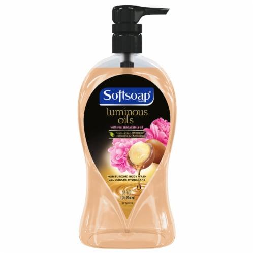 Softsoap Luminous Oils Macadamia & Peony Body Wash Perspective: front