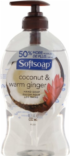 Softsoap Coconut and Warm Ginger Hand Soap Perspective: front