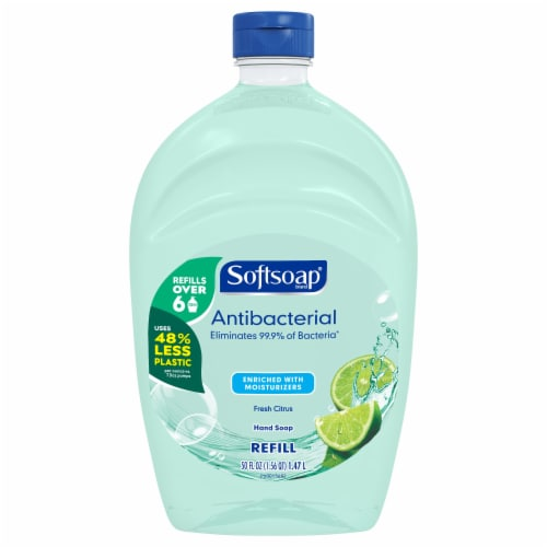 Softsoap Antibacterial Fresh Citrus Scent Hand Soap Refill Perspective: front