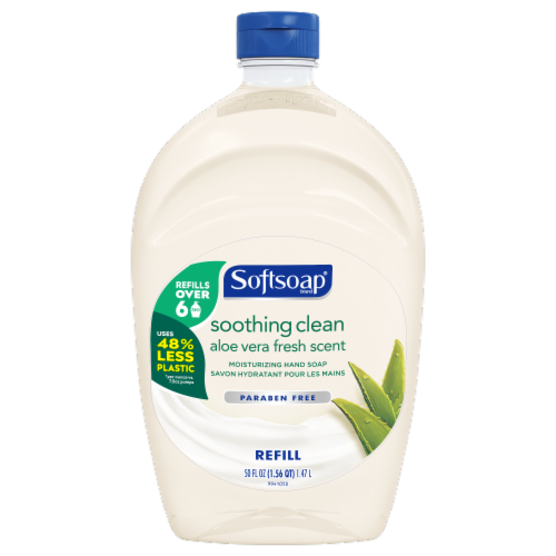 Softsoap Soothing Aloe Vera Moisturizing Hand Soap Refill Perspective: front