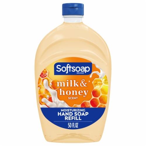 Softsoap Milk & Golden Honey Liquid Hand Soap Perspective: front