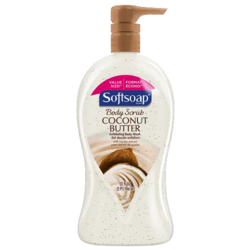 Softsoap Coconut Butter Exfoliating Body Scrub Perspective: front