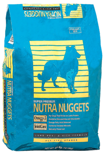 Nutra-Nuggets Lamb Meal & Rice Dry Dog Food Perspective: front