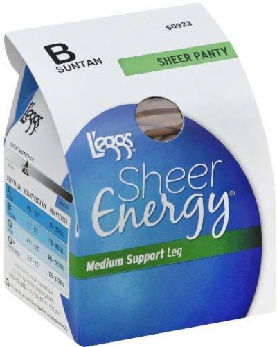 L'eggs® Sheer Energy® Women's Medium Support Leg Sheer Panty Pantyhose - Suntan Perspective: front