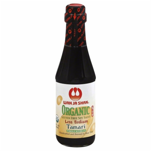 Wan Ja Shan Organic Less Sodium Tamari Sauce Perspective: front