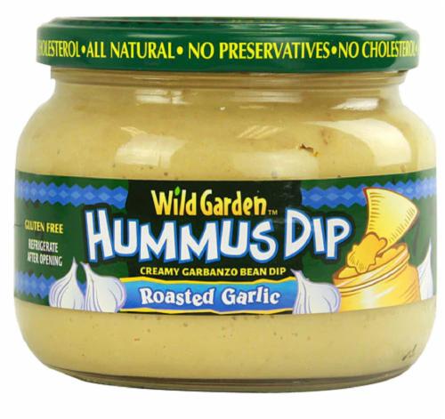 Wild Garden Roasted Garlic Hummus Dip Perspective: front