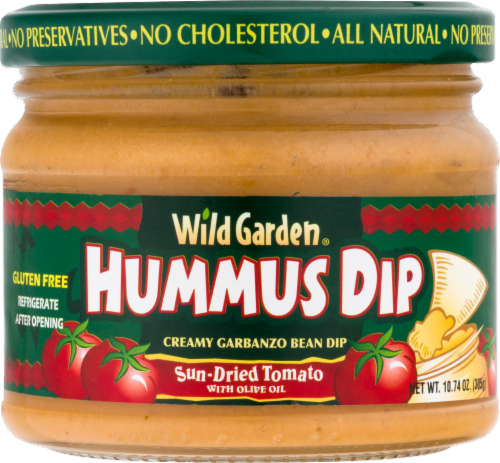 Wild Garden Sun-Dried Tomato Hummus Dip Perspective: front