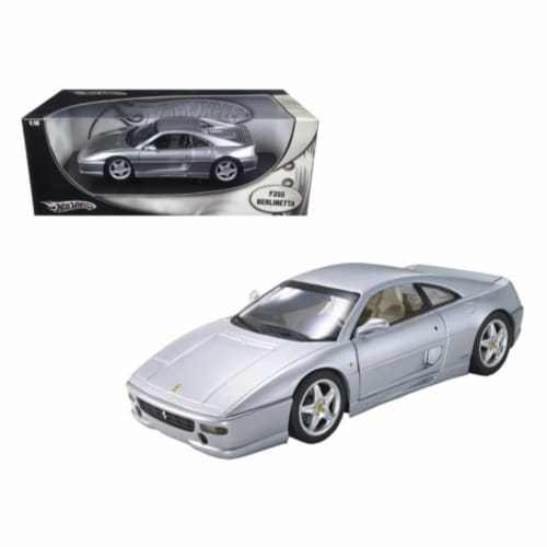 Hot wheels 25735 Ferrari F355 Berlinetta Silver 1-18 Diecast Model Car Perspective: front