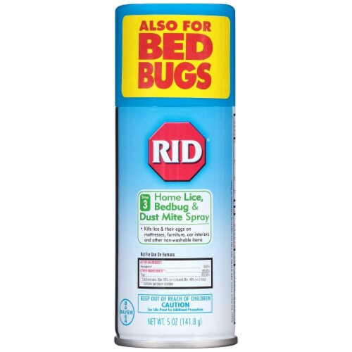 RID Home Lice Bedbug & Dust Mite Aerosol Spray Perspective: front