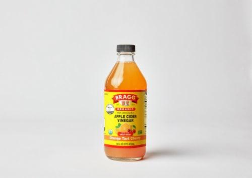 Bragg Organic Orange Tart Cherry Enhanced Apple Cider Vinegar Perspective: front
