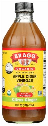Bragg Organic Citrus Ginger Enhanced Apple Cider Vinegar Perspective: front