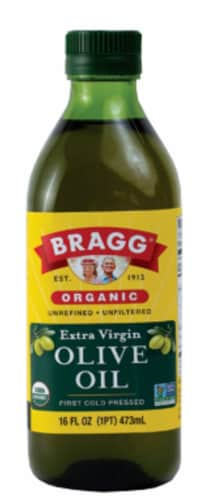 Bragg Organic Extra Virgin Olive Oil Perspective: front
