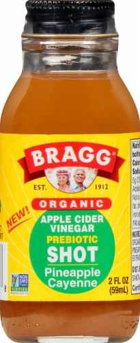 Bragg Organic ACV Pineapple Cayenne Shot Perspective: front