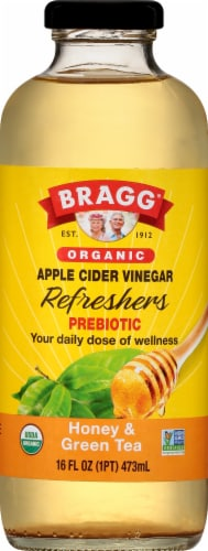 Bragg Refreshers ACV Honey & Green Tea Drink Perspective: front