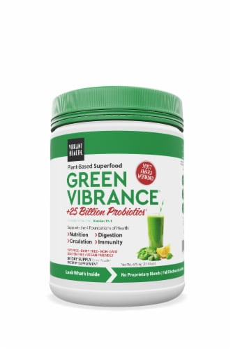 Vibrant Health  Green Vibrance Powder Perspective: front