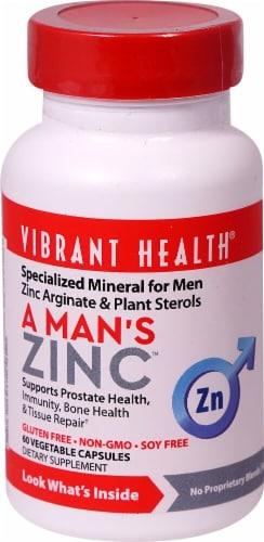 Vibrant Health  A Man's Zinc Perspective: front