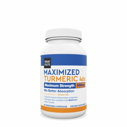 Vibrant Health Maximized Tumeric Perspective: front