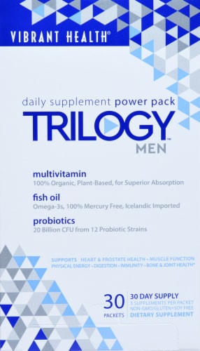 Vibrant Health Trilogy Men's Power Packets Perspective: front