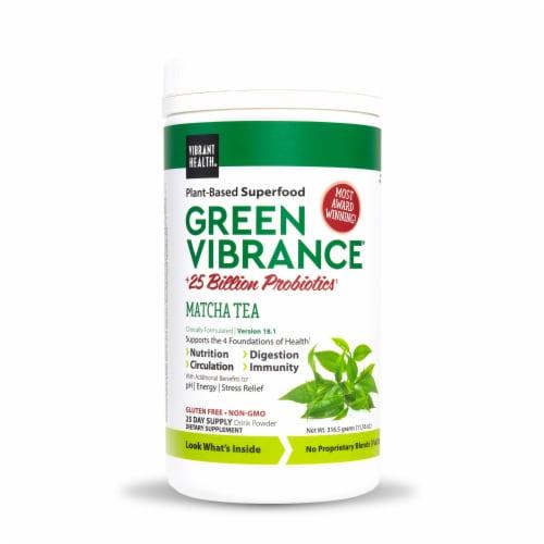 Vibrant Health Green Vibrance Matcha Tea Probiotic Drink Powder Perspective: front