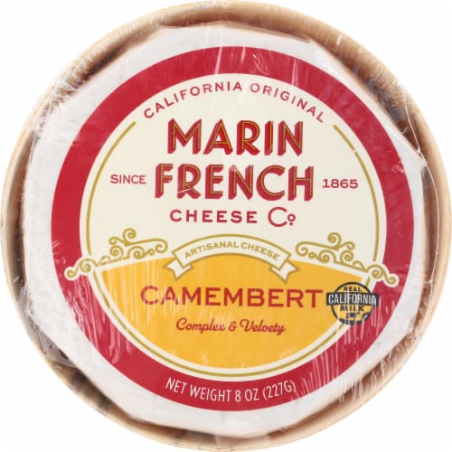 Marin French Cheese Rouge et Noir Original Camembert Soft-Ripened Cheese Perspective: front