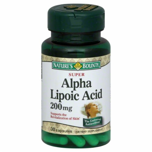 Nature's Bounty Alpha Lipoic Acid Capsules 200mg Perspective: front