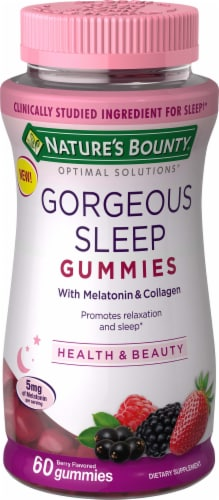 Nature's Bounty Optimal Solutions Gorgeous Sleep Gummies Perspective: front