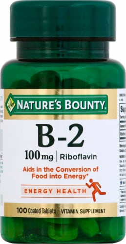 Nature's Bounty B2 Tablets 100mg Perspective: front
