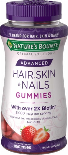Nature's Bounty Advanced Hair Skin & Nails Gummies 80 Count Perspective: front