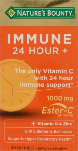 Nature's Bounty Immune 24 Hour+ Softgels 1000mg Perspective: front