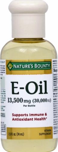 Nature's Bounty Vitamin E Oil Perspective: front