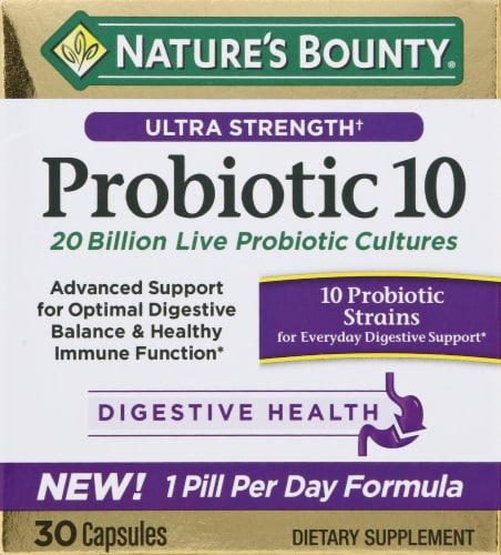 Nature's Bounty Probiotic 10 Capsules Perspective: front