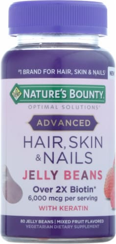 Nature's Bounty® Advanced Hair, Skin, and Nails Dietary Supplement Jelly Beans with Keratin Perspective: front
