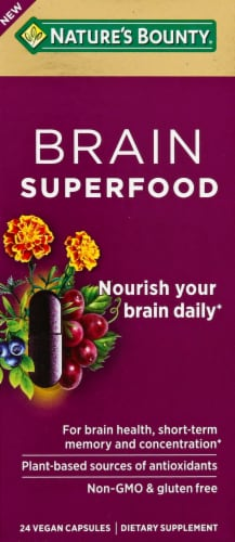Nature's Bounty Brain Superfood Perspective: front