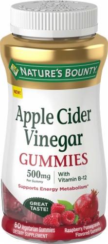 Nature's Bounty Apple Cider Vinegar Vegetarian Gummies 500mg Perspective: front