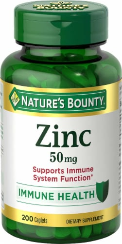 Nature's Bounty Zinc Caplets 50mg Perspective: front