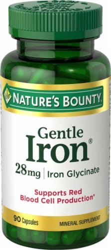 Nature's Bounty Iron Capsules 28mg Perspective: front