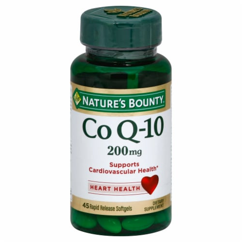 Nature's Bounty Co Q-10 Softgels 200mg Perspective: front