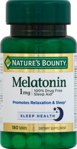 Nature's Bounty Melatonin Tablets 1mg Perspective: front