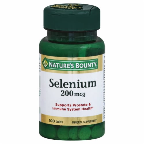 Nature's Bounty Selenium Tablets 200mcg Perspective: front