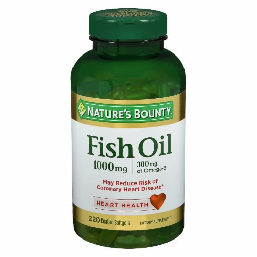 Nature's Bounty Fish Oil Omega-3 Softgels 100mg Perspective: front