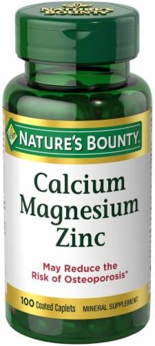 Nature's Bounty Calcium Magnesium Zinc Caplets Perspective: front