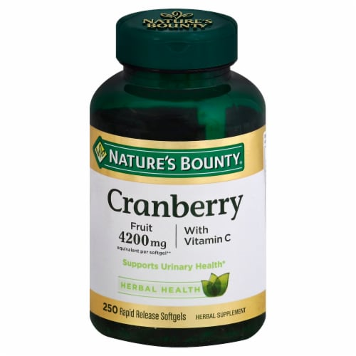 Nature's Bounty Cranberry With Vitamin C Softgels 4200mg Perspective: front